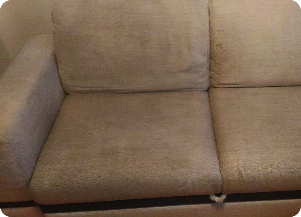 Фото дивана после чистки
