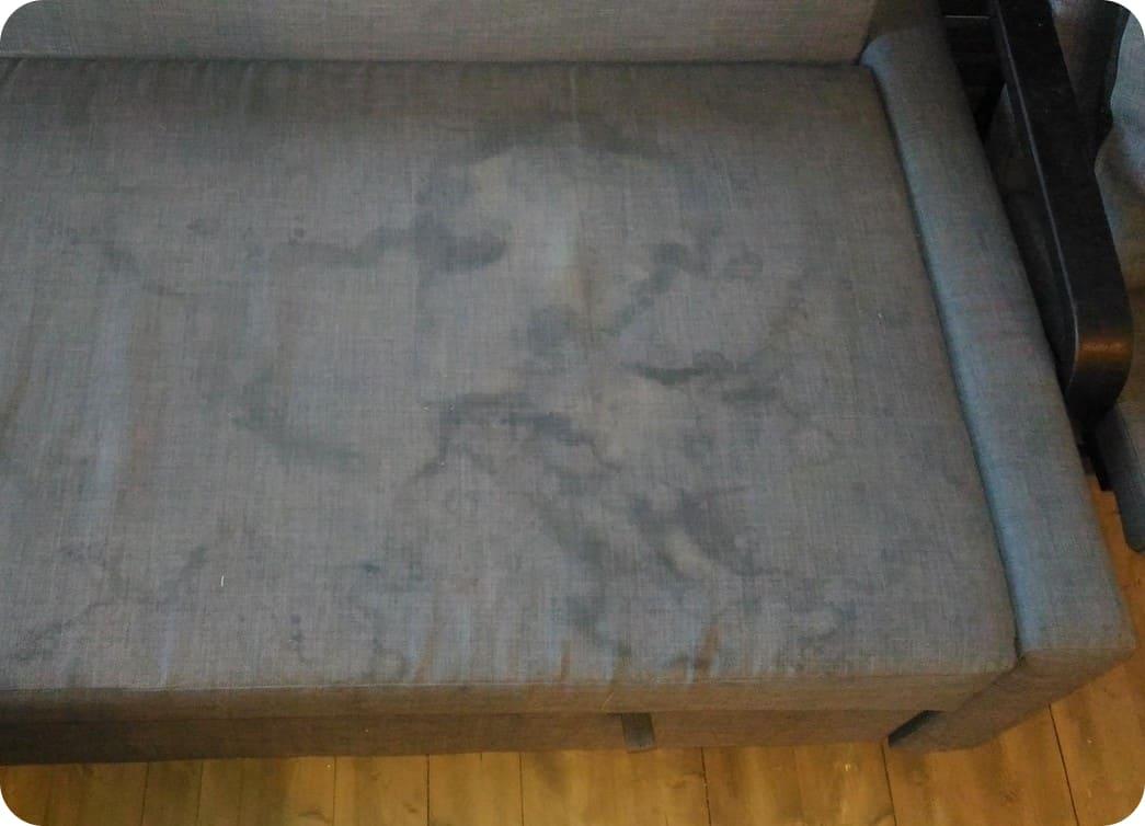 Ткань дивана до химчистки