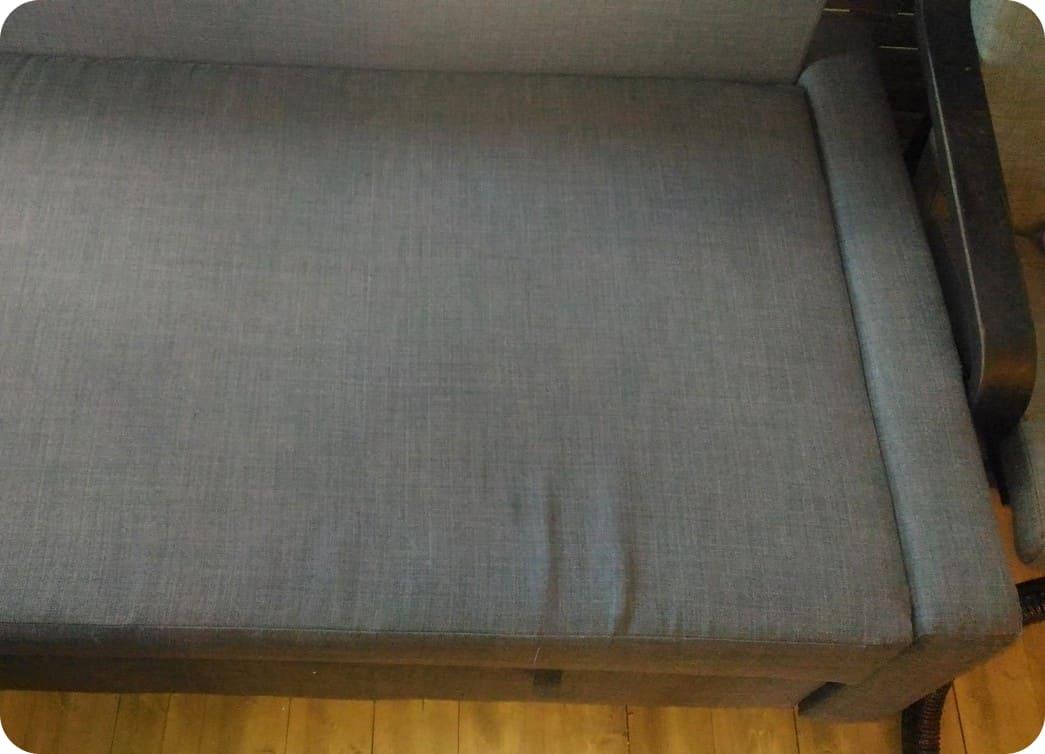 Ткань дивана после химчистки
